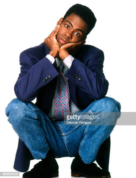 Comedian and actor Chris Rock poses for a portrait in 1989 in New York City New York