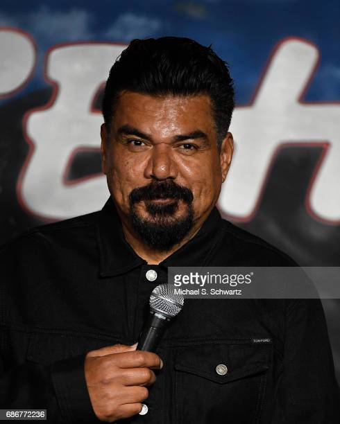 Comedian and actor George Lopez performs during his appearance at the Tons of Anarchy Comedy Show at The Ice House Comedy Club on May 21 2017 in...