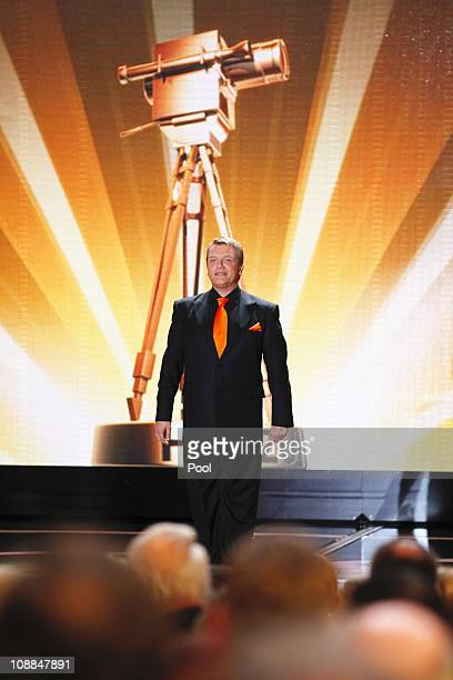 Comedian and actor Hape Kerkeling attends the 46th Golden Camera awards at the Axel Springer Haus on February 5 2011 in Berlin Germany