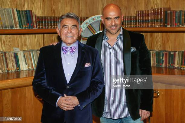 Comedian and actor Héctor Suárez poses with his son Héctor Suárez Gomís during the announcement of their first performance together in the play El...