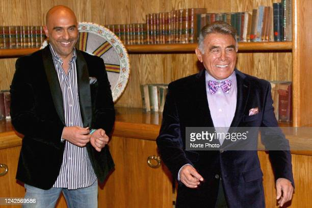 Comedian and actor Héctor Suárez smiles with his son Héctor Suárez Gomís during the announcement of their first performance together in the play El...