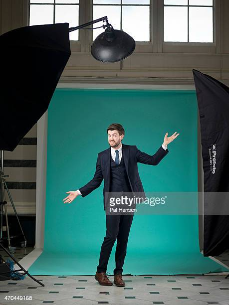 Comedian and actor Jack Whitehall is photographed for the Sunday Times magazine on October 20 2014 in London England