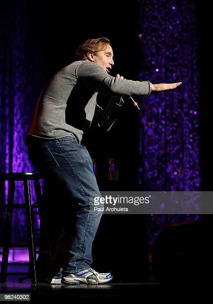Comedian and actor Jay Mohr performs at Kevin Bean's April Foolishness 2010 at Gibson Amphitheatre on April 3 2010 in Universal City California