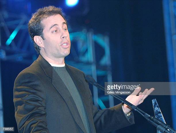 Comedian and actor Jerry Seinfeld receives the Chairman's award at the NAPTE convention January 21 2001 in Las Vegas NV