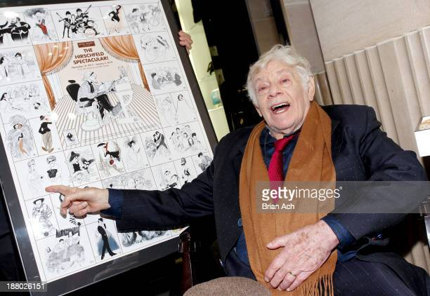 Comedian and actor Jerry Stiller attends the Henri Bendel Celebrates The Work Of Illustrator Al Hirschfeld At The Unveiling Of The Holiday Windows...