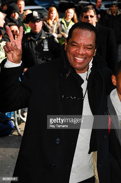 """Comedian and actor John Witherspoon attends the """"Late Show With David Letterman"""" taping at the Ed Sullivan Theater March 25, 2008 in New York City."""