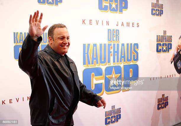 Comedian and actor Kevin James arrives to the German premiere of the movie Mall Cop on March 22, 2009 in Munich, Germany. The movie starts on March...