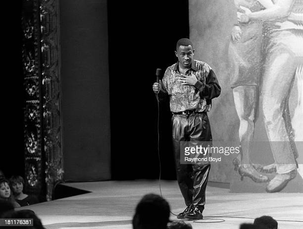 Comedian and actor Martin Lawrence performs at the Vic Theater in Chicago Illinois in NOVEMBER 1990