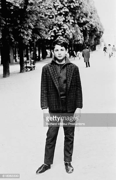 Comedian and actor Michel Boujenah as a teenager in Paris.
