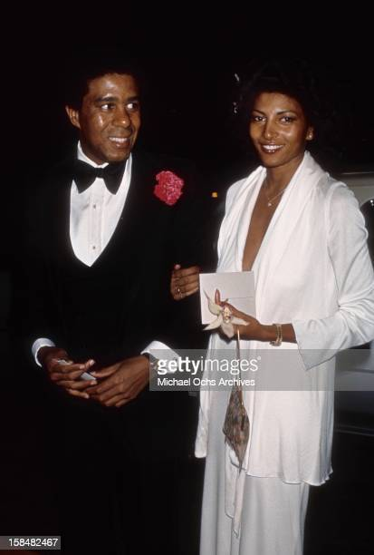 Comedian and actor Richard Pryor and actress Pam Grier attend the 19th Annual Grammy Awards at The Hollywood Palladium in Los Angeles California
