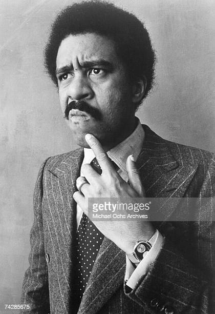Comedian and actor Richard Pryor poses for a Reprise Records publicity photo in Los Angeles California US 1976
