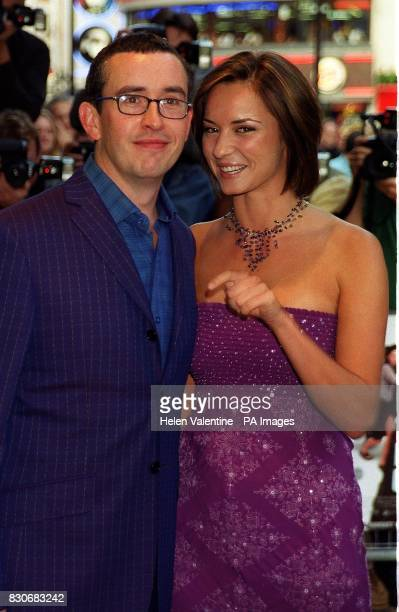 Comedian and actor Steve Coogan with Caroline Hickman arrive at the Empire Leicester Square in London for the premiere of his film The Parole Officer...