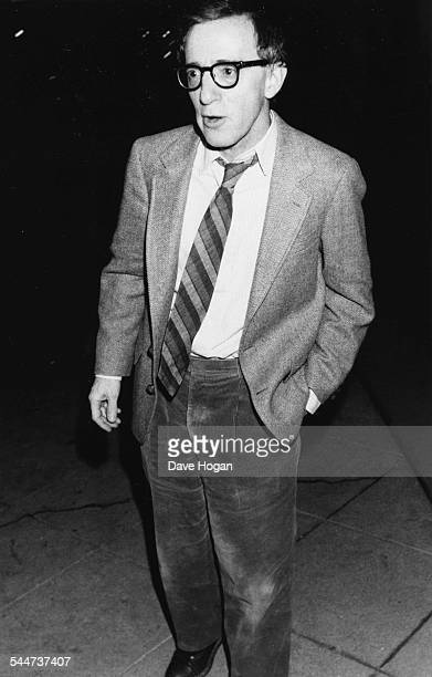 Comedian and actor Woody Allen leaving a restaurant in New York March 20th 1986