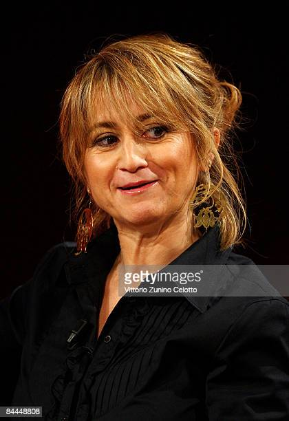 Comedian and Author Luciana Littizzetto attends 'Che Tempo Che Fa' television show at RAI Studios on January 25 2009 in Milan Italy