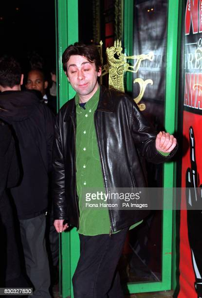 Comedian and author Sean Hughes arriving at the NME Awards at the Mermaid Theatre in Central London