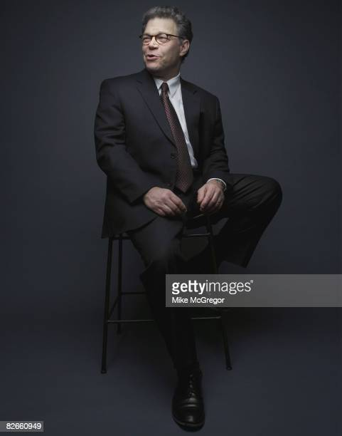 Comedian and Democratic candidate for US Senate Al Franken is photographed for Minnesota Monthly Magazine