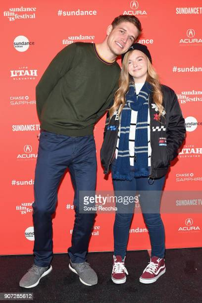 Comedian and Director Bo Burnham and actress Elsie Fisher attend the 'Eighth Grade' Premiere during 2018 Sundance Film Festival at Park City Library...