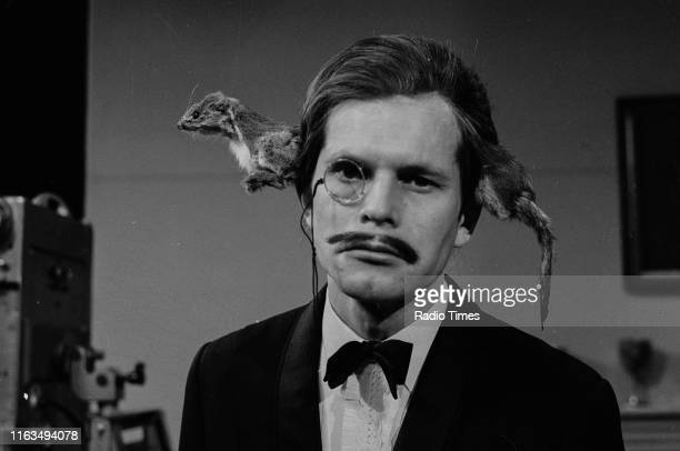 Comedian and director Terry Gilliam as 'a man with a stoat through his head' in a sketch from series 2 of the BBC television show 'Monty Python's...