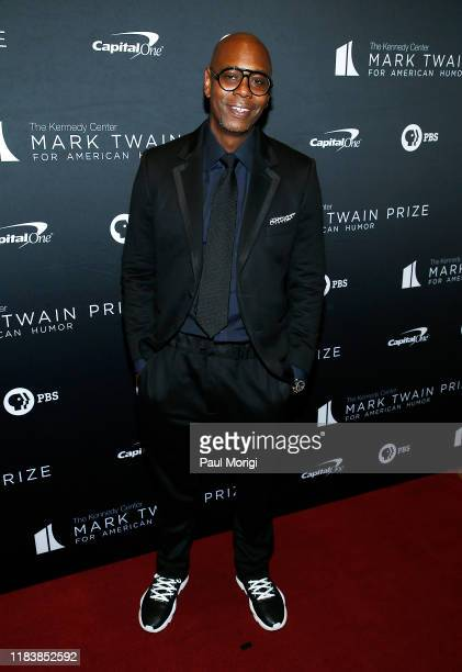 Comedian and honoree Dave Chappelle attends the 22nd Annual Mark Twain Prize for American Humor at The Kennedy Center on October 27 2019 in...