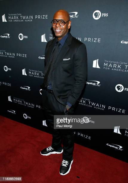 Comedian and honoree Dave Chappelle attends the 22nd Annual Mark Twain Prize for American Humor at The Kennedy Center on October 27, 2019 in...