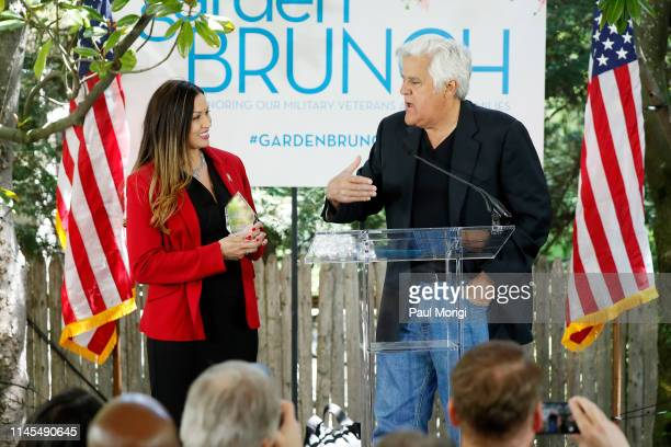 Comedian and host Jay Leno presents the Champions of Freedom Award to Master Sergeant Angela MoralesBiggs at the 26th Annual White House...