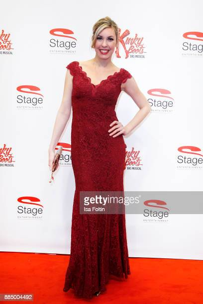 Comedian and musical singer Janina Korn attends the 'Kinky Boots' Musical Premiere at Stage Operettenhaus on December 3 2017 in Hamburg Germany