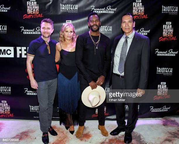 Comedian and Nerdist Founder and CEO Chris Hardwick and cast members from the 'Fear the Walking Dead' television series Kim Dickens Colman Domingo...