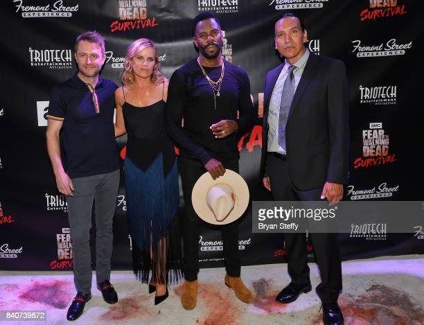 Comedian and Nerdist Founder and CEO Chris Hardwick and 'Fear The Walking Dead' television series cast members Colman Domingo Kim Dickens and Michael...