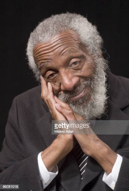 Comedian and political activist Dick Gregory poses for a portrait at Lee Hall Auditorium on the campus of Florida AM University on February 8 2006 in...