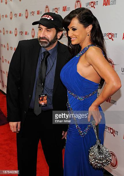 Comedian and show host Dave Attell and adult film actress Lisa Ann arrive at the 29th annual Adult Video News Awards Show at the Hard Rock Hotel...