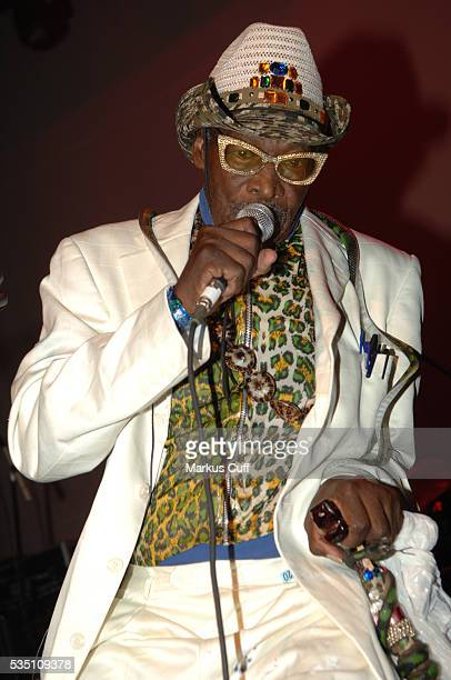 Comedian and singer Rudy Ray Moore performs at the Henry Fonda Theater in Hollywood California