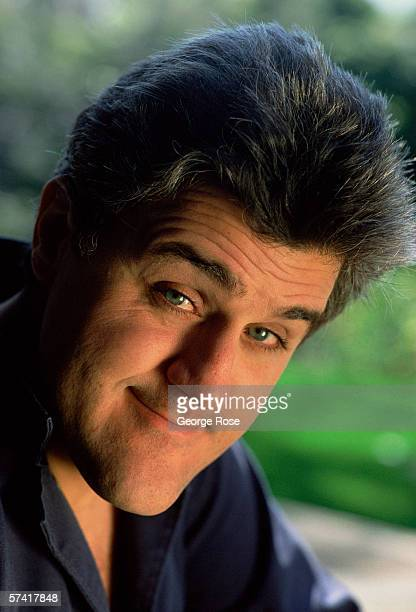 Comedian and talk show host Jay Leno poses during a 1989 Beverly Hills California photo portrait session Host of the Tonight Show With Jay Leno Leno...