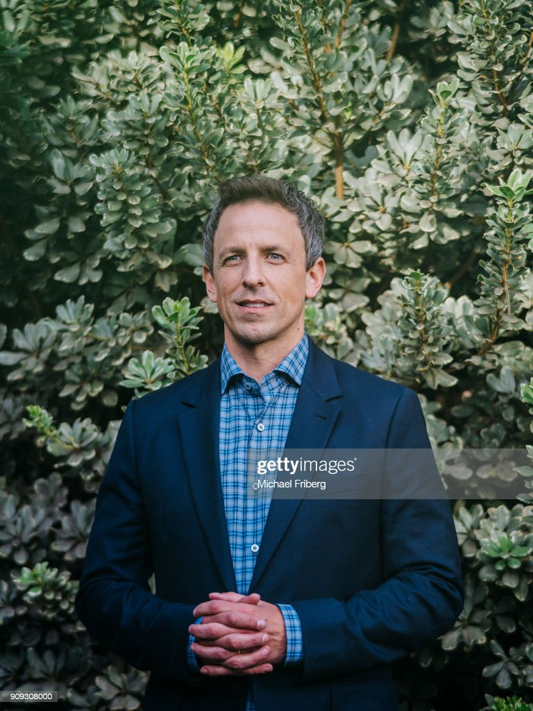 Comedian and talk show host Seth Meyers is photographed for New York Times on January 2, 2018 in Los Angeles, California.