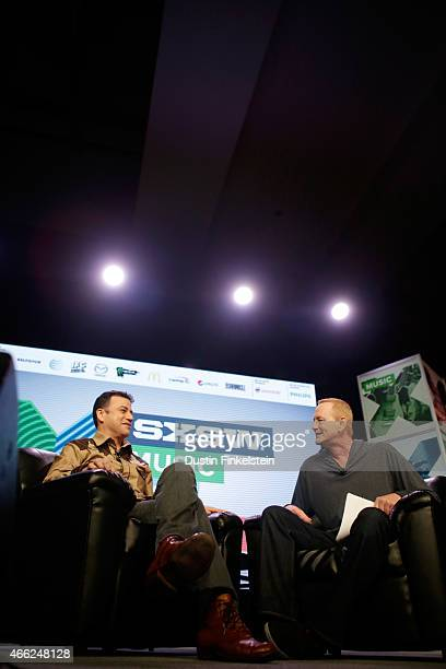 Comedian and television host Jimmy Kimmel and radio personality Kevin Ryder speak onstage at 'A Conversation With Jimmy Kimmel' during the 2015 SXSW...