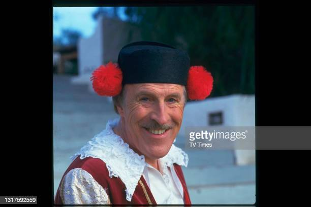 Comedian and television presenter Bruce Forsyth dressed as a Spanish matador in Marbella, circa 1988.