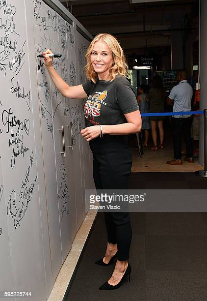 Comedian and TV host Chelsea Handler visits AOL Build to discuss the new season of her hit Netflix show Chelsea at AOL HQ on August 25 2016 in New...