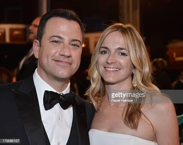 Comedian and TV host Jimmy Kimmel and writer Molly McNearney attend the 41st AFI Life Achievement Award Honoring Mel Brooks at Dolby Theatre on June...