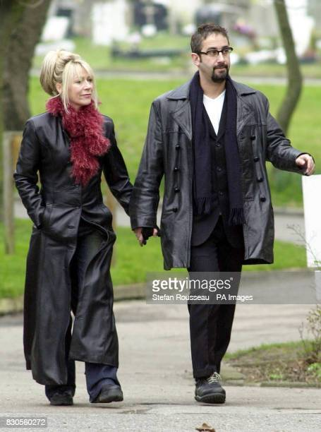 Comedian and tv presenter David Baddiel arrives at West London Crematorium for the funeral of the husband of food writer Nigella Lawson broadcaster...