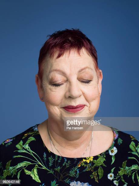 Comedian and tv presenter Jo Brand is photographed for the Observer on April 2 2018 in London England