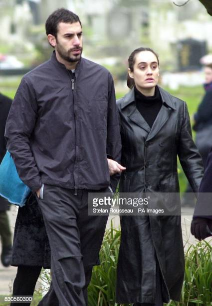 Comedian and tv presenter Sasha Baron Cohen better known as Ali G arrives at West London Crematorium for the funeral of the husband of food writer...
