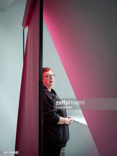 Comedian and writer Jo Brand is photographed for the Sunday Times magazine on September 20 2018 in London England