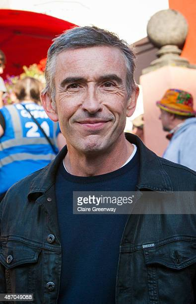 Comedian and writer Steve Coogan is seen on day 3 of Festival No 6 on September 5 2015 in Portmeirion Wales The 4day festival of music arts and...