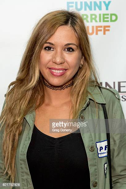 Comedian Andrea Vicunia arrives for the Screening Of Perrine Productions' 'Funny Married Stuff' at the ACME Comedy Theatre on November 7 2016 in Los...