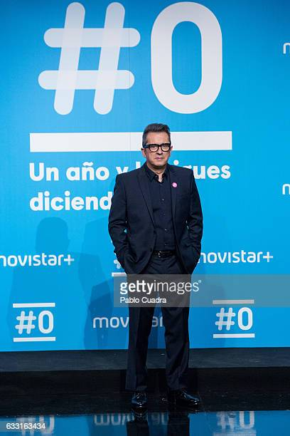 Comedian Andreu Buenafuente attends a photocall for the 'Movistar channel' first anniversary at 'Movistar' Studios on January 31 2017 in Madrid Spain