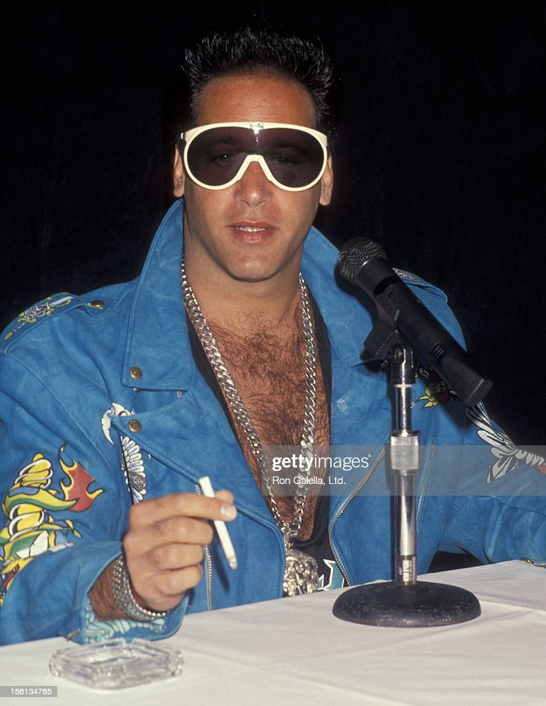 Comedian Andrew Dice Clay attending 'Andrew Dice Clay Press Conference' on May 10, 1991 at the Bel Age Hotel in West Hollywood, California.