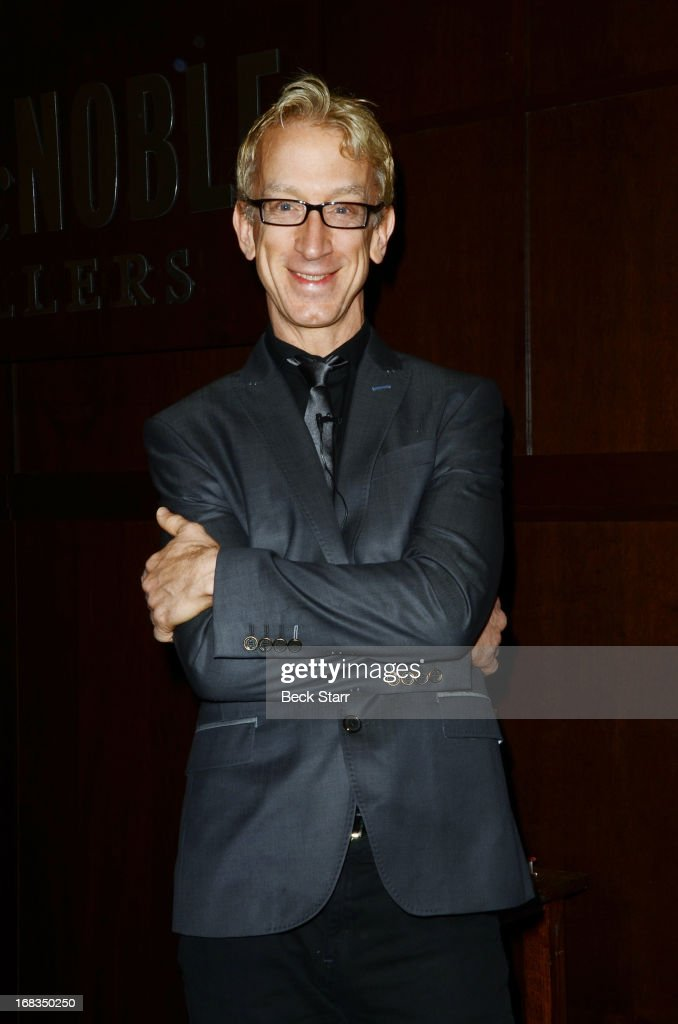Comedian Andy Dick in conversation with comedian Fred Stoller as he signs his new book 'Maybe We'll Have You Back' at Barnes & Noble bookstore at The Grove on May 8, 2013 in Los Angeles, California.