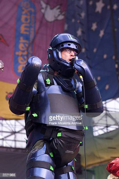 Comedian Andy Dick talking to the crowd at the Woodstock 99 Festival on July 23rd in Rome New York The crowd was estimated at 250000