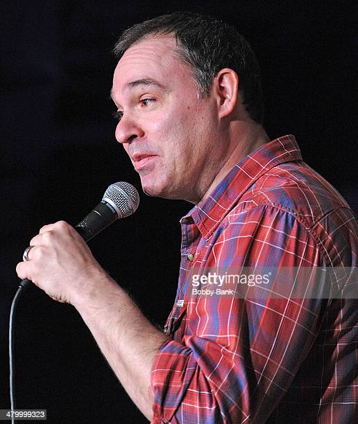 Comedian Andy Pitz performs at The Stress Factory Comedy Club on March 21 2014 in New Brunswick New Jersey