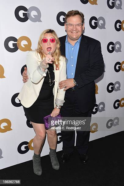 Comedian Andy Richter and Sarah Thyre arrive at the GQ Men of the Year Party at Chateau Marmont on November 13 2012 in Los Angeles California