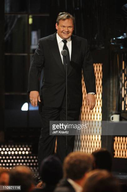 Comedian Andy Richter speaks onstage at the First Annual Comedy Awards at Hammerstein Ballroom on March 26, 2011 in New York City.